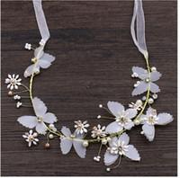 Новые цветы и бабочки, ленты для волос, пляжная свадьба, аксессуары для невесты, венок от головных уборов производителей оптом, белого цвета.