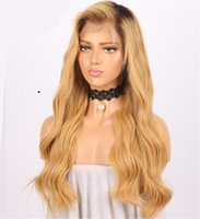 Ombre Brown Wig 1B 27 Glueless Full Lace Human Hair Wigs For...