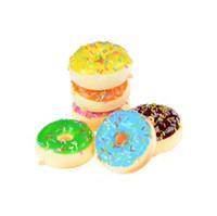Vente chaude 1 Pcs 7 Cm Donut Cône Squishy Ralentissant Pain Anti-stress Jouets Cellulaire Téléphone Charms Bretelles