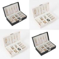 أزياء المرأة المحمولة السفر المجوهرات مربع منظم المخملية الحلي تخزين حالة هدية مربع