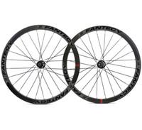 700c 38 ملليمتر عمق الطريق دراجة قرص الفرامل عجلات الكربون 25 ملليمتر العرض الفاصلة / أنبوبي cyclocross الكربون العجلات مع محور novatec