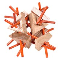 Luban Lock Juguete tradicional 3D Rompecabezas de madera Intelectual Bebé Juguete Educativo de madera 3D Rompecabezas de juguete de regalo para niños