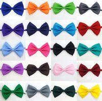 I nuovi 19 colori Pet Dog Collar cravatta cravatta accessori del fiore decorazione accessori per puro cravatta di colore bowknot IA626