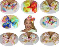 Iridescent Holographic Unicorns bow 7inch Jumbo Hair Bows Pr...