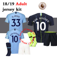 Top 18 19 home Soccer jersey Kits KUN AGUERO Mahrez Walker D...