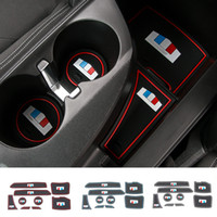 Car Door Mats Gate Slot Cushion Cup Holder Pads Rubber For C...