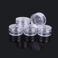10G / 10ML Mini vasetto cosmetico vuoto circa 38 x 21 mm dimensioni da viaggio in plastica trasparente vasetto crema viso campione bottiglia ombretto trucco balsamo per labbra contenitore