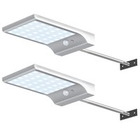 Intelligente solare lampada da parete 56LED 1000lm alluminio delle coperture Dimmable telecomando luce alimentata solare per esterni