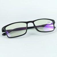 2021New Buono ed economico occhiali da lettura in plastica Slim Occhiali leggeri con le lenti di potenza per i vecchi operai