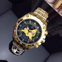 EF-550 Luxury EFR gold frame watch Designer Mens Steel band CAS quartz Movement men Watch Silver Black FOR male watch.