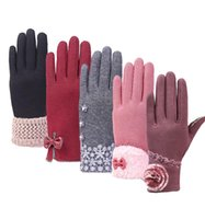 Women Gloves Touch Screen Gloves Five fingers Fleece Winter ...