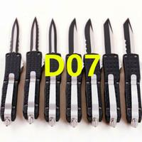 Combat petit D07 7 pouces Double Couteaux d'action Katana Tri-Grip Couteau de poche avec étui