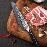 Chaud en acier damas Chef Chef 8 pouces Meilleure Qualité Japonais AUS10 Super Acier 67 Couche Damas Razor Sharp Superbe Rétention De Tache