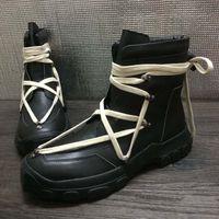 أحذية روك الصحراء للرجال الشتاء مارتن الأحذية جلد طبيعي منصة البريطانية الاتجاه أحذية عالية Bangding رجالية