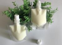 50ml di plastica trasparente stand up pouch con la parte superiore beccuccio doypack bevanda borsa sacchetto di imballaggio campione liquido