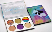 DHL tarafından ücretsiz Nakliye Aşk Luxe Güzellik Fantezi Denizkızı Paleti Makyaj İnanılmaz Güzel Vurgulayıcılar Göz Farı 6 Renkler