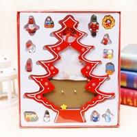 Decorazioni natalizie ornamento in legno per bambini giocattoli bambini regali di Natale regali rossi verde in magazzino due pezzi un pacchetto