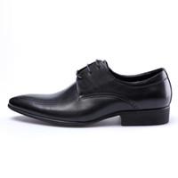 Zapatos de punta de cuero negro / marrón para hombres Zapatos de vestir de hombres de cuero oxfords genuino Zapato de novio de boda zapatos sociales formales masculinos