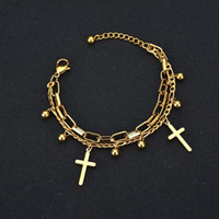 WB007 New Bracelet Bangle Women American Cross Charm Bracele...