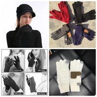 5 Colors Knitted Gloves Capacitive Touch Screen Gloves Women...