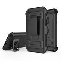 Venta caliente para el iphone 8 más caso sostenedor del coche caso móvil a prueba de golpes híbrido tpu + pc con la caja del teléfono clip de cinturón
