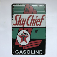 SkyChief Gasoline Texaco Vintage Rustic Home Decor Bar Pub H...