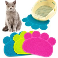 Pet Mat Placement PVC Dog Paw Shape Puppy Feeding Mats Cat C...