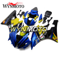Shark Blue Fluorescein Carrozzeria in plastica ABS Carenatura in plastica per Yamaha YZF600 R6 YZF-600 2006 2007 Injection Body Kit Cowling Nuovo