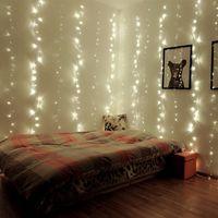 4 M x 2 M 256LED Guirnaldas de Navidad LED Cadena Luces Netas de Navidad Fiesta de Navidad de Hadas Jardín Decoración de La Boda Luces de la cortina