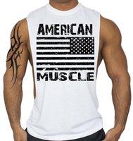 Şık Erkekler Kolsuz Yelek Yaz Ulusal Bayrak Baskılı Fanila Pamuk Tank Top Vücut Geliştirme Toptan Gömlek Erkekler Streetwear Stringer