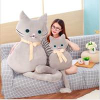 1шт 53 / 100см длинный хвост Cat Подушка Плюшевая игрушка мягкая подушка мягкая игрушка кукла подушка сна Спальня Декор Прекрасные подарки для детей
