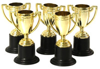 Wholesale- 12PCS LOT Plastic gold cup trophy, Kids sports meda...