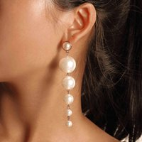 New Luxury Imitation Pearl Pendant Drop Earrings Long Tassel...
