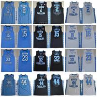 North Carolina Tar Hels Jerseys College Basketball Vince Carter 15 Michael 23 32 Luke Maye 5 Nassir Little Stitched Blue White Blue