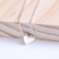 Simple Style Silver Heart Shape Love Necklace Pendant Chain ...