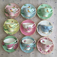 Canecas De Copos De Café Europeia Cerâmica Lanche Chá e Pires Colher Conjunto Avançado Porcelana Caneca para Presentes