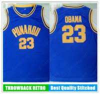 Новый Барак Обама 23 Пунау высокий баскетбол майки майки в баскетбол Джерси ретро винтажная сшитая рубашка классический спорт 18