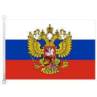 Kartal Rusya Federasyonu bayrağı bayrak, 90 * 150cm,% 100 polyester, afiş, Dijital Baskı