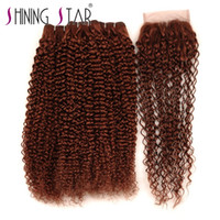 Color 33 Curly Hair Bundles With Closure Direct Factory High...