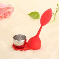 حلوى الألوان الحلو أوراق سيليكون infuser reusable مصفاة مع قطرة صينية الجدة الشاي الكرة العشبية سبايس تصفية الشاي أداة