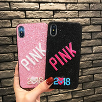 PINK Cover Glitter 3D Embroidery Love Pink Soft Phone Case F...