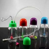 Plastikflasche Shisha Großhandel Bongs Ölbrenner Rohre Wasserleitungen Glasrohr Oil Rigs Rauchen, kostenloser Versand