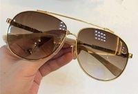 Jackaaddict pilota Occhiali da sole in metallo oro / Brown Shaded Occhiali Accessori da uomo occhiali da sole degli uomini di Eyewear Nuovo con scatola