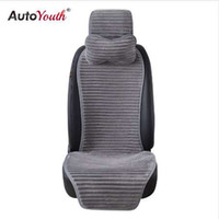 AUTOYOUTH Nuevo Invierno Nano Velvet Car Seat Cover con reposacabezas 5 Color Universal Car Seat Cushion Protector Car-Styling