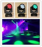 8 Stück LED Mini Movinghead 7x12W RGBW Strahl LED 4in1 Moving Head Mini Moving Head Zoom Waschen Moving Head Licht