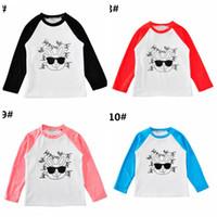 EAster Day Lapin Garçons Filles Coton RAbbit T-shirts t-shirts Vêtements Lettres De Bande Dessinée T-shirts À Manches Longues T-shirts Pour Bébés Boutique T-shirts Tops