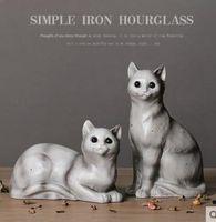 Créative résine amoureux du chat figurine cru chat chanceux statue home decor artisanat chambre décoration objets en résine figurines animales