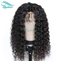 Bythair Full Lace Human Hair Wig Curly Lace Front Wig Pre- pl...