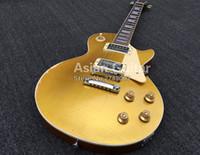 Custom Shop 1959 Envelhecido Goldtop Relic Gold Top Guitarra Elétrica Pequena Pin Tone Pro Bridge, Porca de Osso, Pickups Humbucker