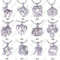 12 Constellation Pearl cage locket Ciondoli senza catena DIY Wish Love Collana di perle segni zodiacali pendenti con ciondoli gioielli regalo
